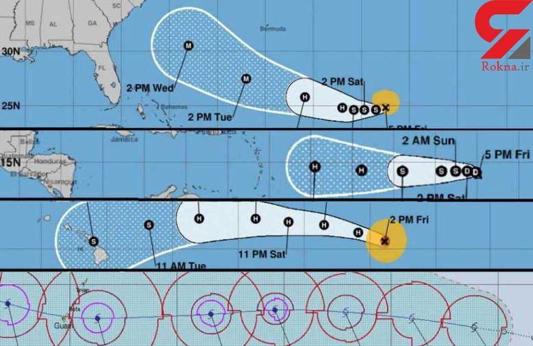 مقامات آمریکا و کارائیب برای 4گردباد حاره ای آماده می شوند