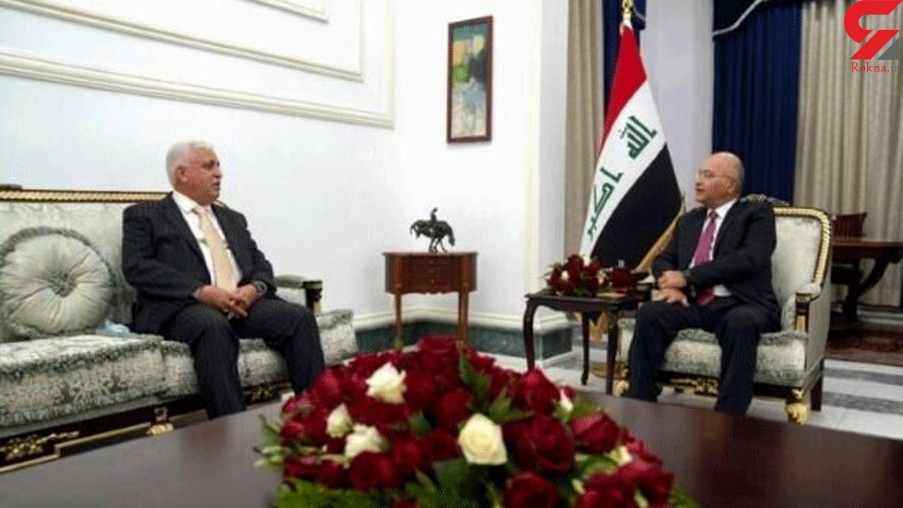 Iraqi president, sanctioned PMU head discuss security issues