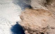 فوران یک آتشفشان زیرا ذره بین ناسا + تصاویر
