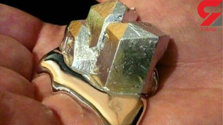 فلزی عجیب که با دمای دست ذوب میشود +عکس