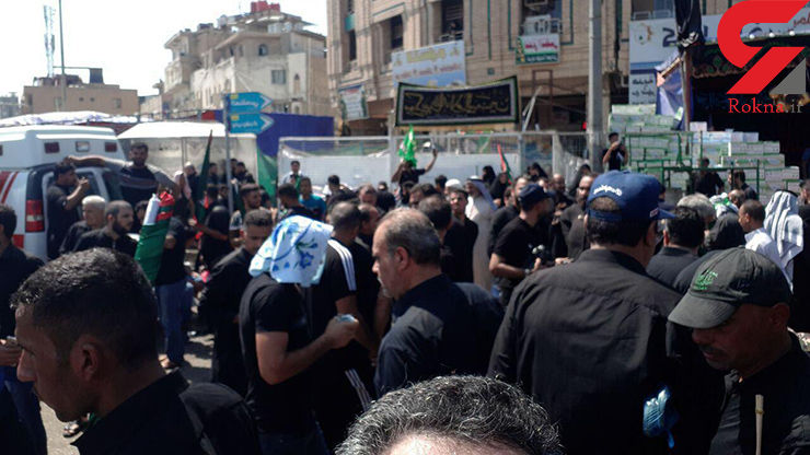 12 کشته در سقوط دیوار بتونی در برابر حسینیه تهرانی ها / وحشت در کربلا+ عکس