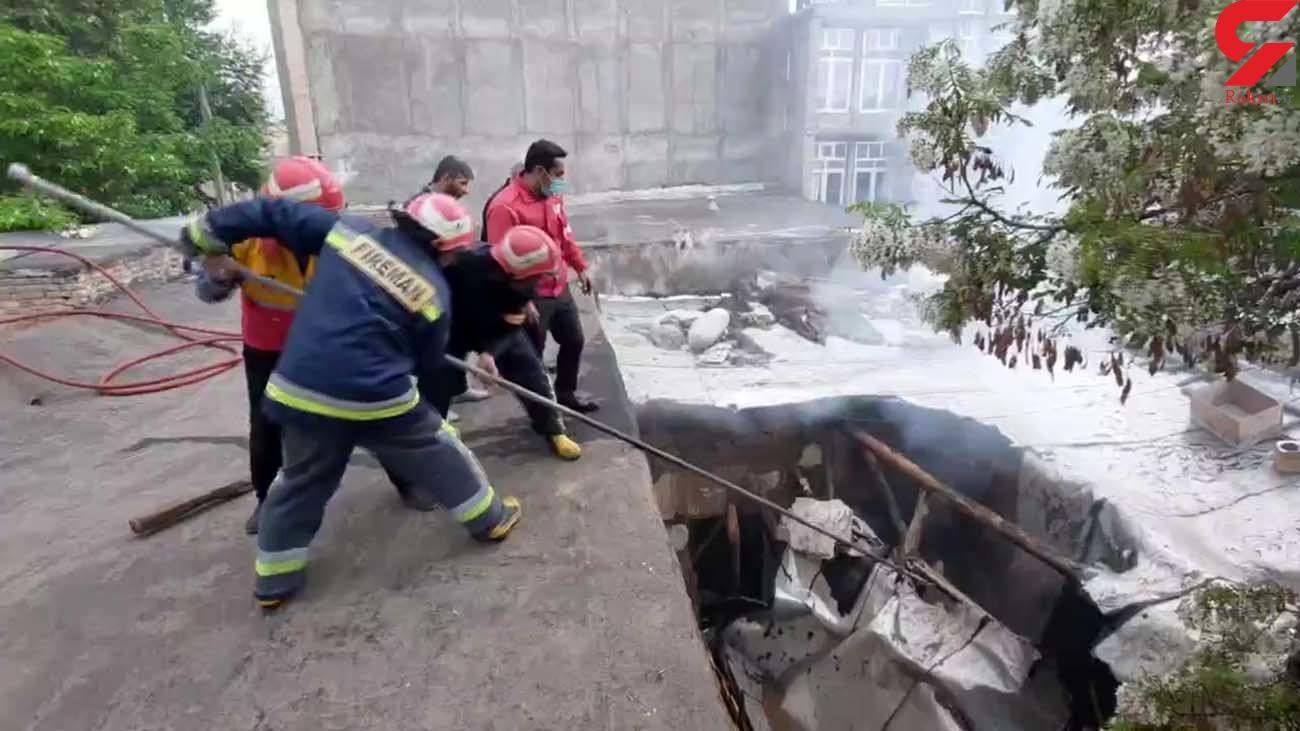 تخریب کامل یک واحد مسکونی بر اثر آتشسوزی در اهر