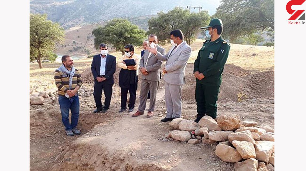 کشف 5 گورستان باستانی در سادات محمودی دنا