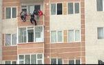 فیلم ثانیه های وحشتناک خودکشی زن تبریزی / صبح امروز رخ داد + تصویر
