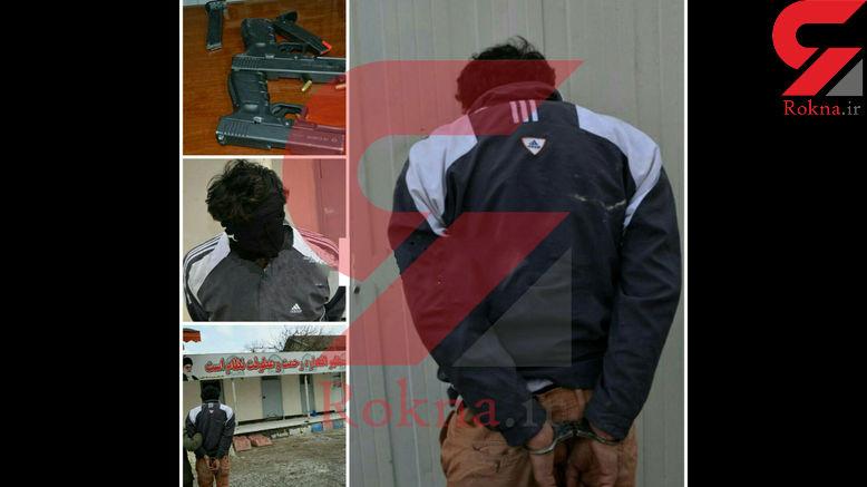 سرقت مسلحانه از بانک صادرات لاهیجان + عکس سارق