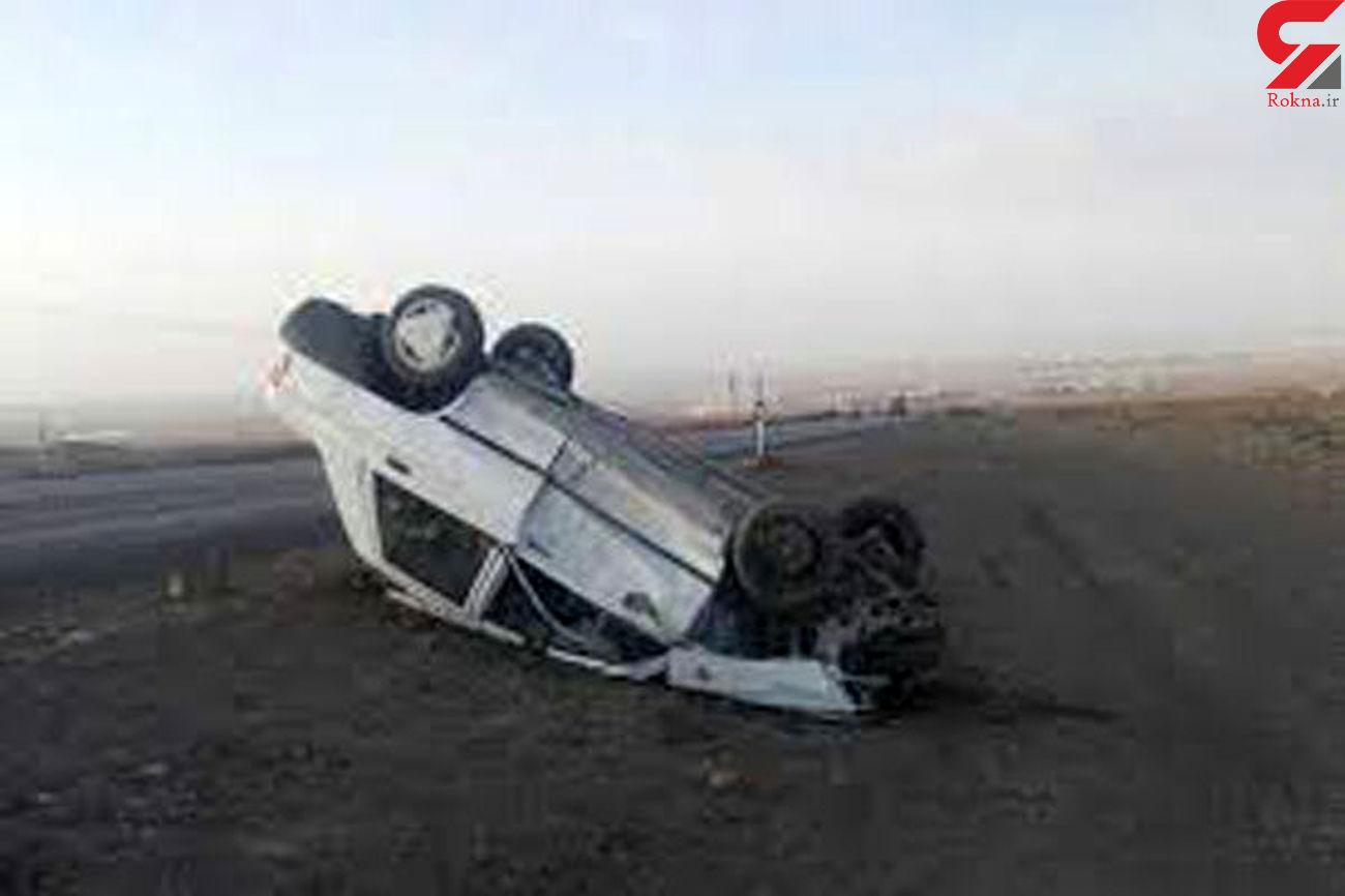 واژگونی مرگبار پراید در جاده دورود