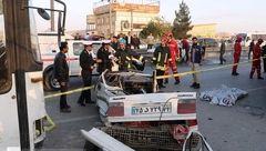 تصادف مرگبار اتوبوس با چند خودرو در بزرگراه آیت الله هاشمی رفسنجانی + تصاویر