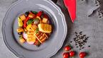 سالاد مدیترانه با پنیر کبابی+دستور تهیه
