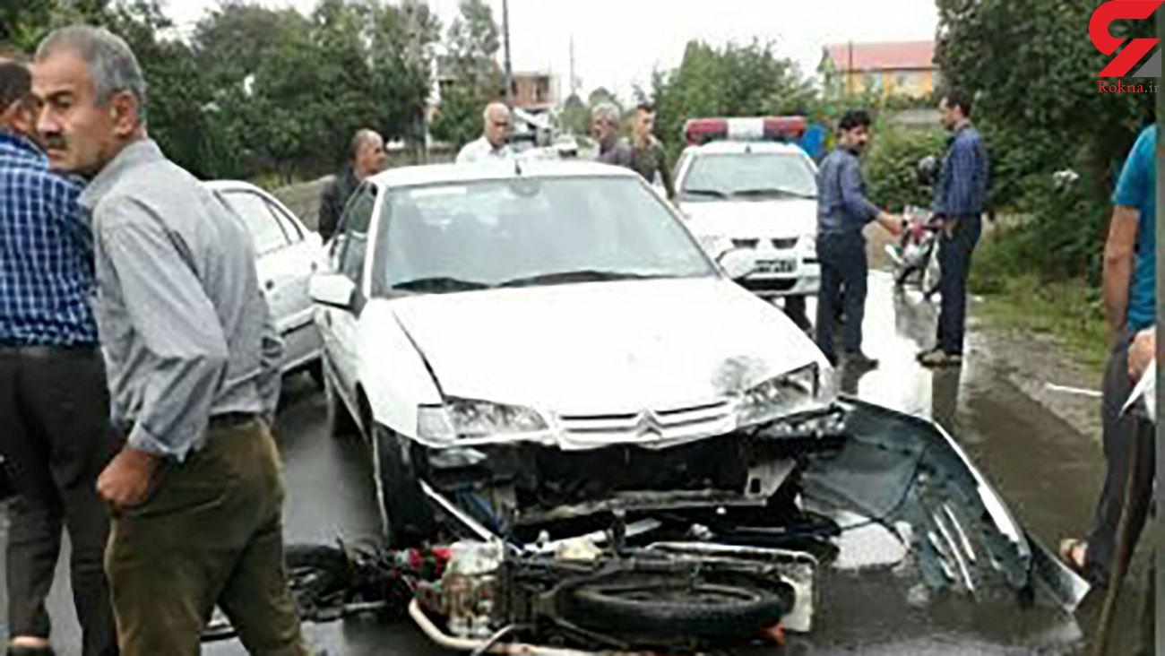 تصادف شدید 4 مرد و یک زن در گیلان