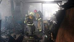 دختران 3 قلو در آتش سوزی بزرگ تهران گرفتار شدند + عکس