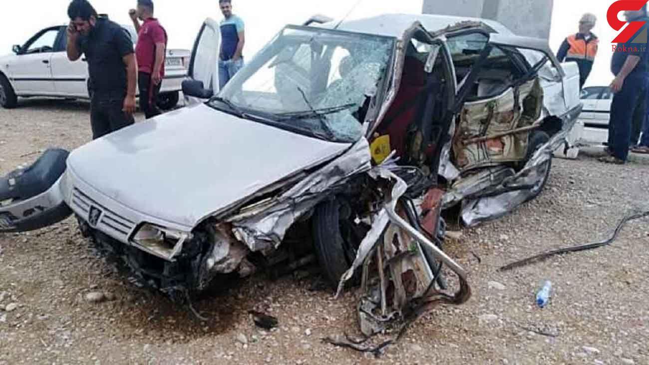 مرگ 2 مرد و مصدومیت 2 زن در اثر واژگونی پژو / در مسجدسلیمان رخ داد