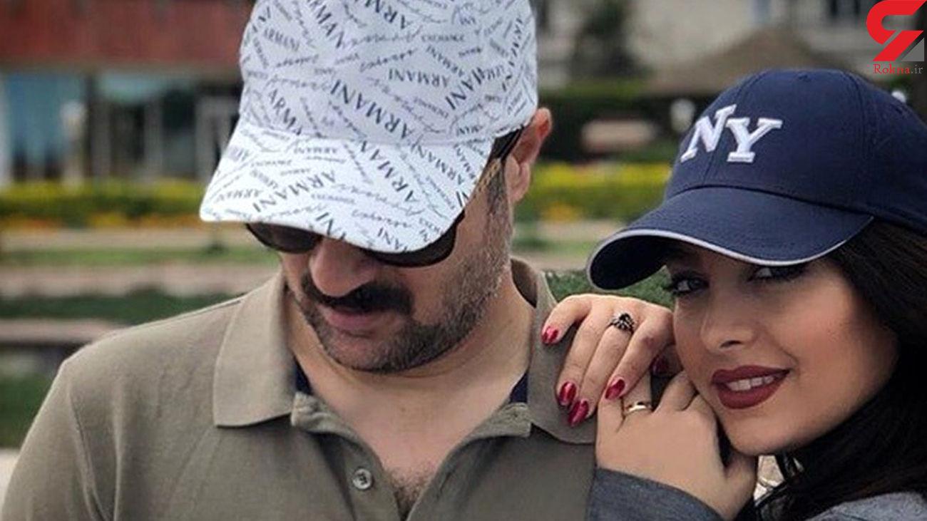 عکس لاکچری از احمد مهرانفر بازیگر پایتخت در کنار همسرش