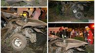 3 مصدوم در تصادف وحشتناک مشهد +تصاویر