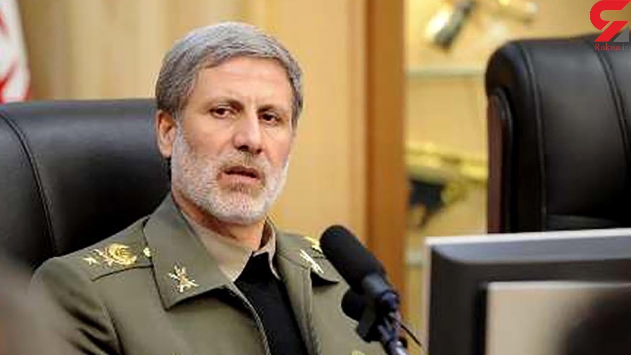 وزیر دفاع: نیروهای مسلح ایران هرگونه حرکت مذبوحانه دشمن را مقتدرانه و آگاهانه پاسخ خواهند داد