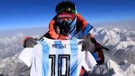 نام مسی در قله اورست+ عکس