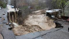 جاده رودبارقصران شمیرانات مسدود شد
