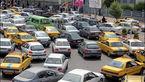 ترافیک سنگین تهران در روز بارانی