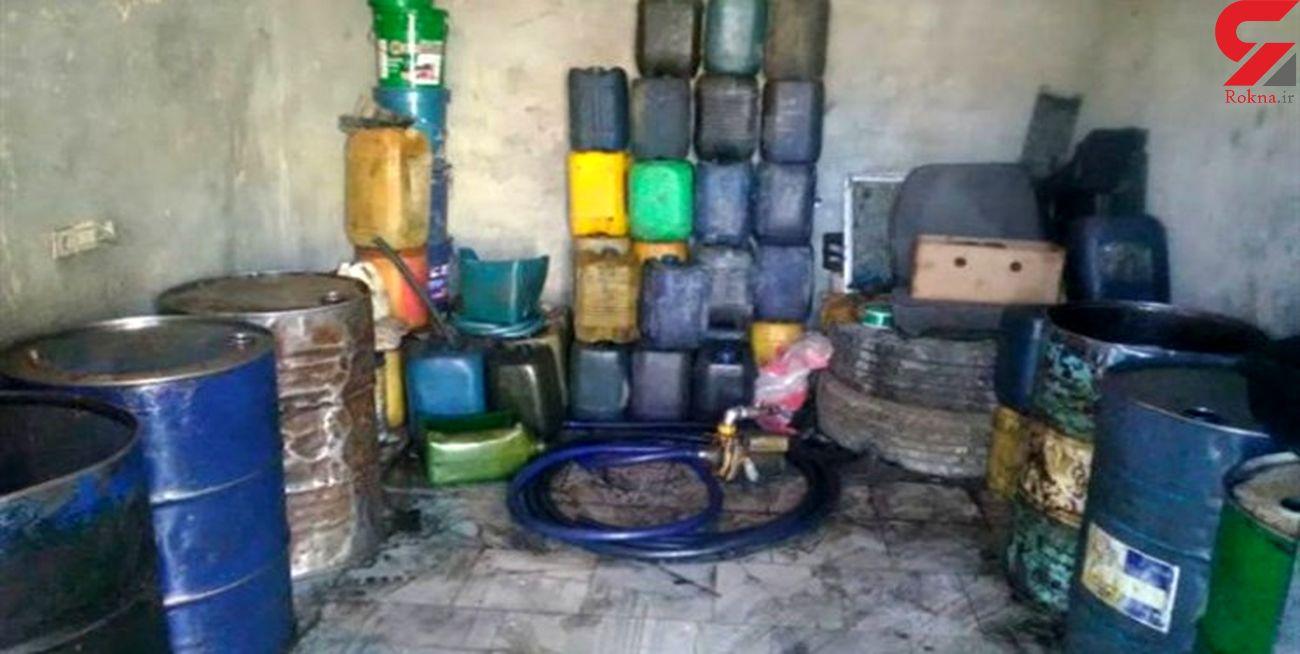 کشف بیش از 32 هزار لیتر بنزین قاچاق در سراوان