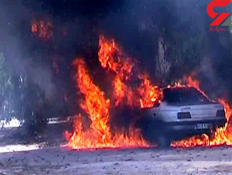 تعقیب و گریز پلیس فارس با تبهکاران / خودروی حامل مواد مرگ را به آتش کشیدند