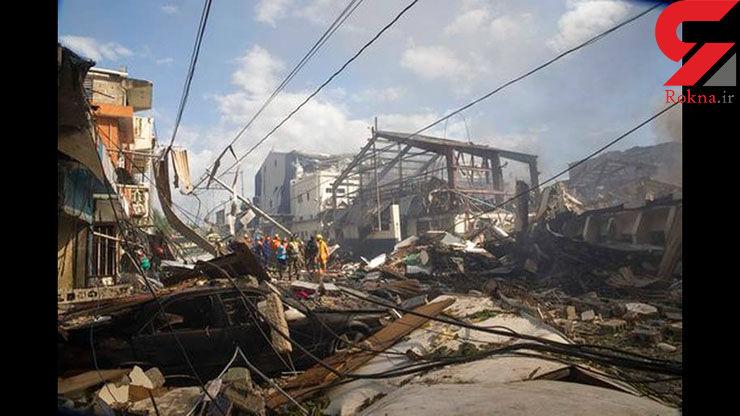 ۷۲ کشته و زخمی در انفجار کارخانه پلاستیک در دومینیکن+عکس