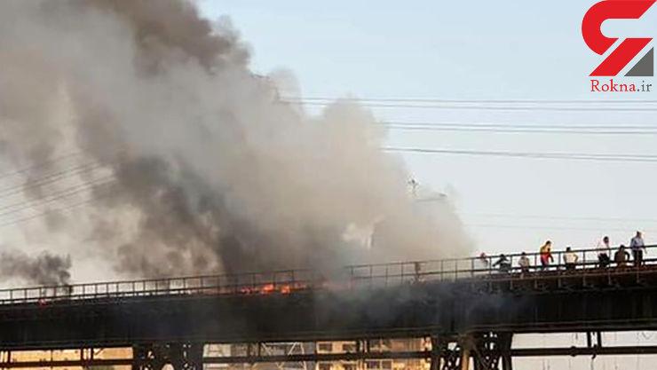 گرما، پل تاریخی اهواز  را به آتش کشید+ عکس