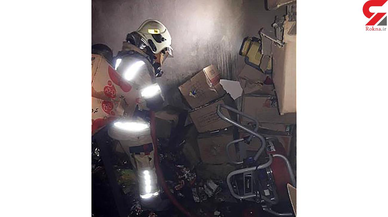 آتش سوزی هولناک در مجتمع تجاری ازگل / روز گذشته رخ داد + عکس ها