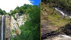 آبشار لاتون درمیان جنگلی همیشه سبز
