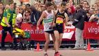 حرکت انسان دوستانه یک دونده در ماراتن لندن + فیلم و عکس