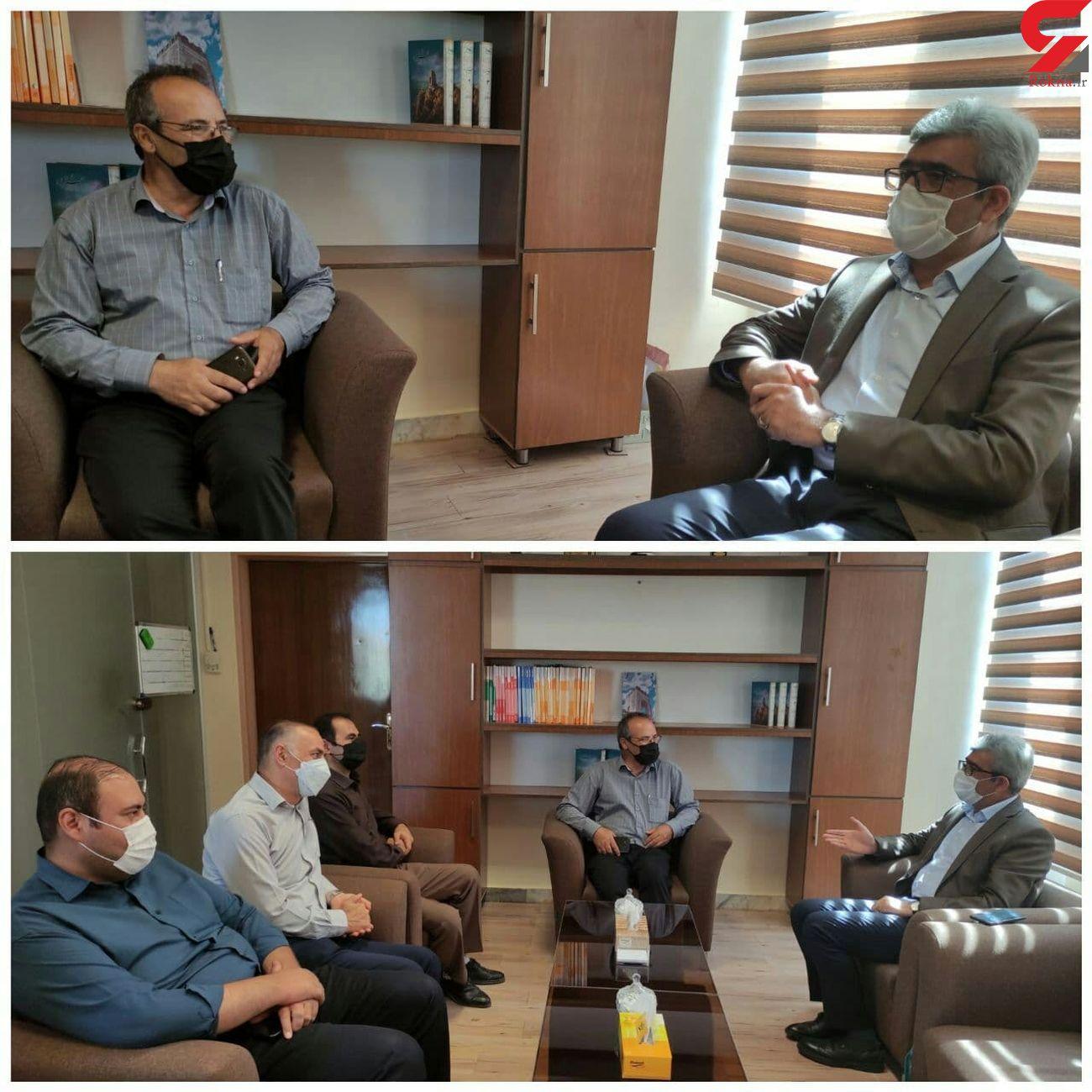 دیدار امین امینیان با مدیر کل هواشناسی استان