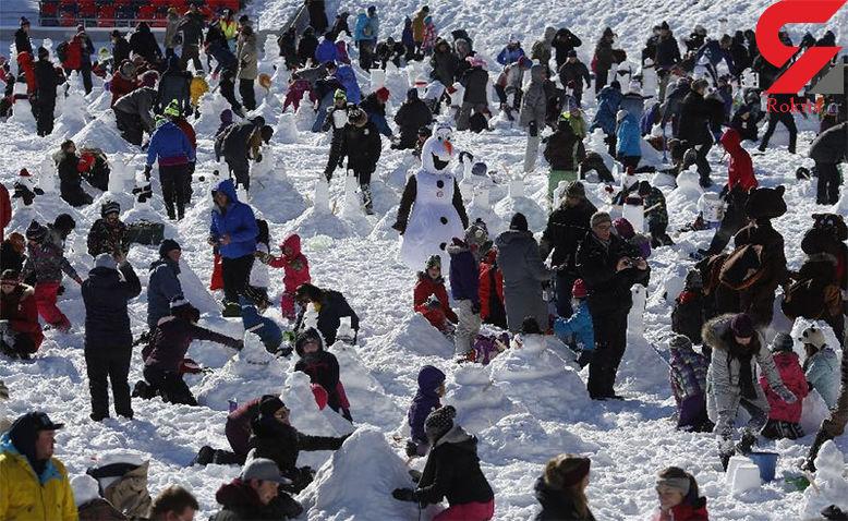 رکوردزنی کاناداییها در ساخت آدمبرفی