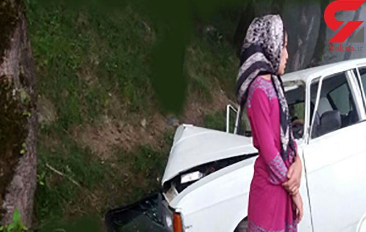 مرگ تلخ زن باردار در سقوط پیکان به دره