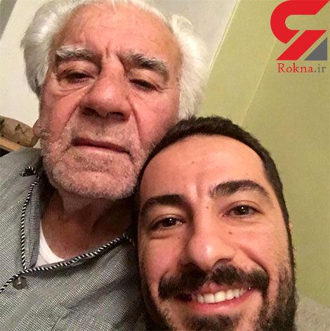 سلفی نوید محمدزاده و پدرش