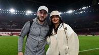 دستگیری همسر فوتبالیست مشهور به جرم حمل اسلحه + عکس / انگلیس