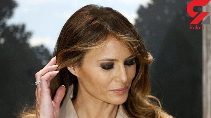 پوشش متفاوت همسر ترامپ در کنگره/ بی احترامی به زنان ! + عکس