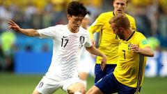 شکست کره جنوبی در برابر سوئد