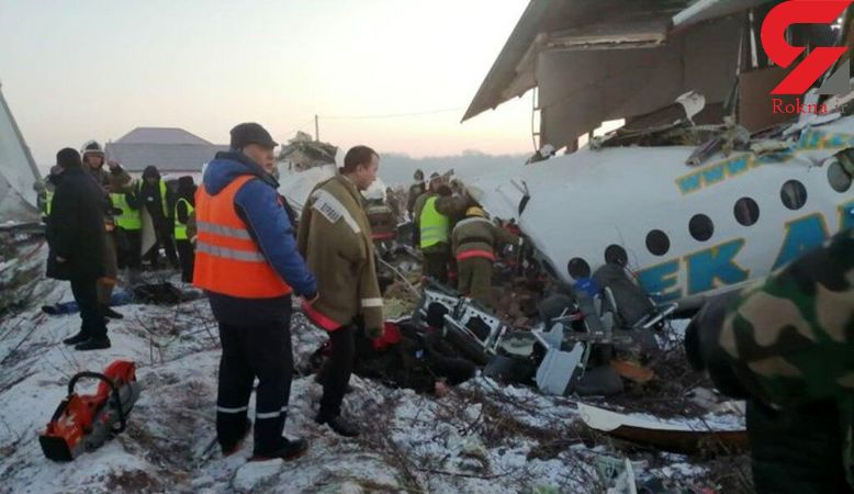 ایران سقوط یک فروند هواپیما در قزاقستان را تسلیت گفت