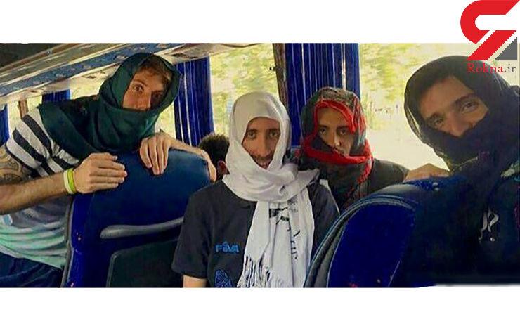 دردسر عکس سلفی 4 مرد خارجی با روسری در تجریش+عکس