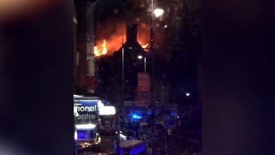 آتش سوزی شبانه در رستوران + فیلم