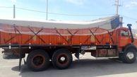 توقیف کامیون حامل پارچه قاچاق میلیاردی در کازرون
