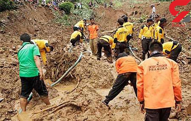 تعداد کشته های سیل و رانش زمین در اندونزی به 35 نفر رسید