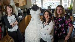لباس عروس خوردنی که  300 ساعته آماده شد+عکس