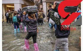 عکس های عجیب از سیل در ونیز ایتالیا