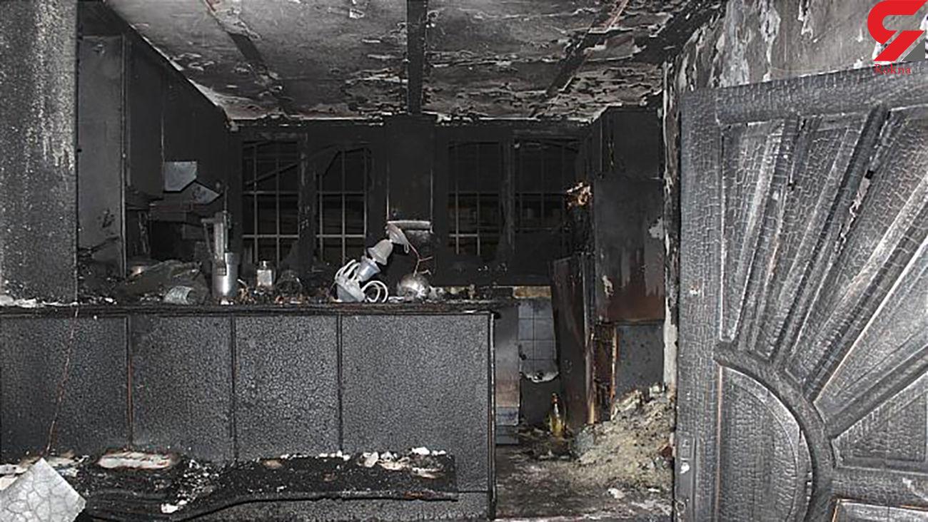 انفجار و آتش سوزی در یک ساختمان 5 طبقه مسکونی + عکس ها