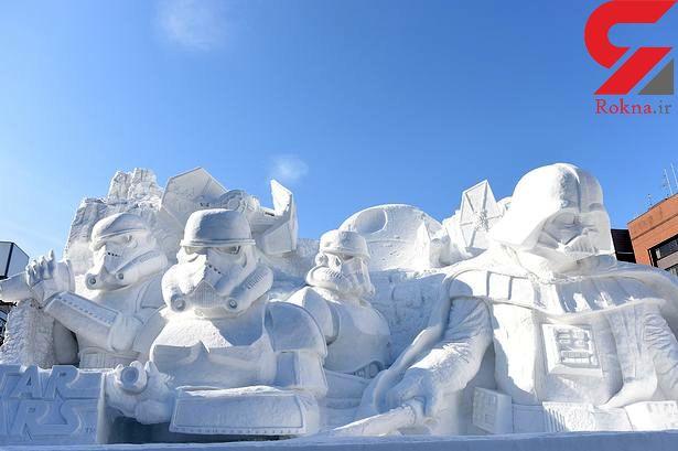 ساخت مجسمههای برفی در ژاپن