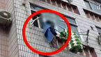 طناب لباس جان دختر 5 ساله را در سقوط از طبقه چهارم ساختمان نجات داد +تصاویر