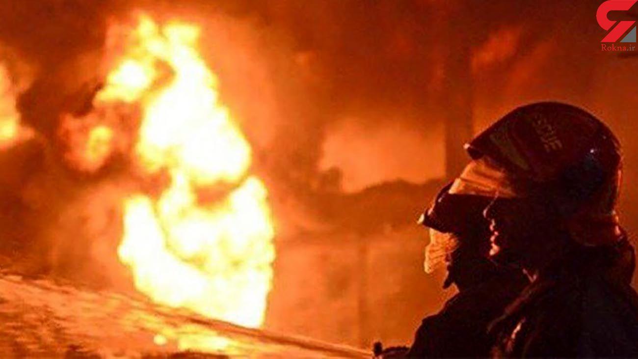 آتش سوزی عمدی کمپ ترک اعتیاد برای فرار معتادان جنوب تهران
