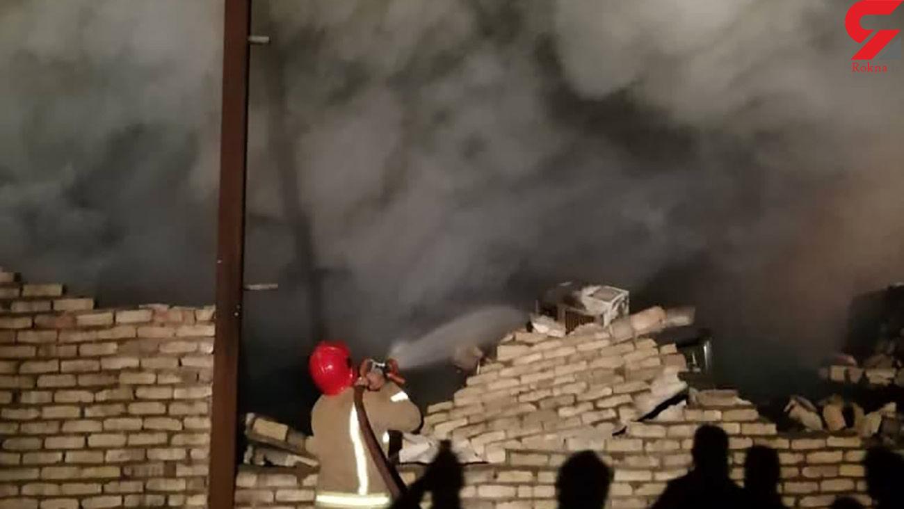 آتش سوزی بزرگ شرق تهران + فیلم