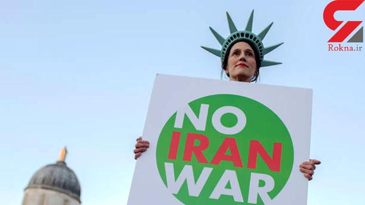 حمایت یک زن از ایران در حاشیه اجلاس ناتو+ تصاویر