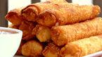 فینگر فود رول پنیری گوشت عصرانه ای متنوع
