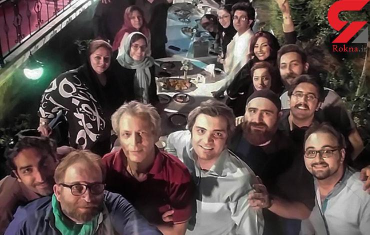 جشن حجت الله ایوبی برای خبرنگاران در باغی مجلل/خبرنگاران در کنار چهره های سینمایی +عکس